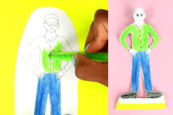 Fathers day craft for kindergarten-step3