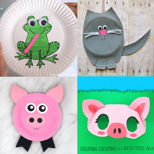 easy paper plate crafts for kids-animal crafts