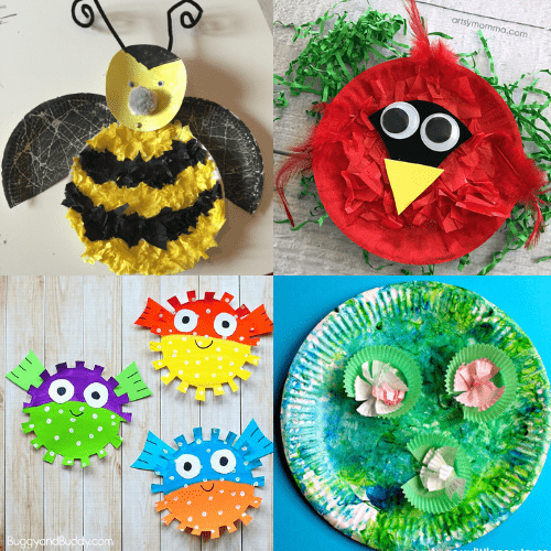 easy paper plate crafts for kids-3