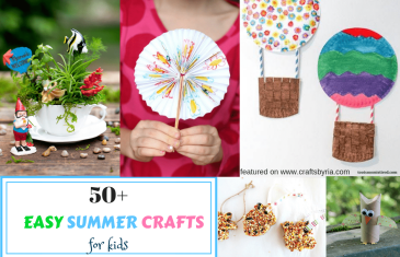 easy summer crafts for kids- featured