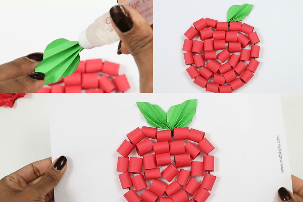 paper apple craft-step8