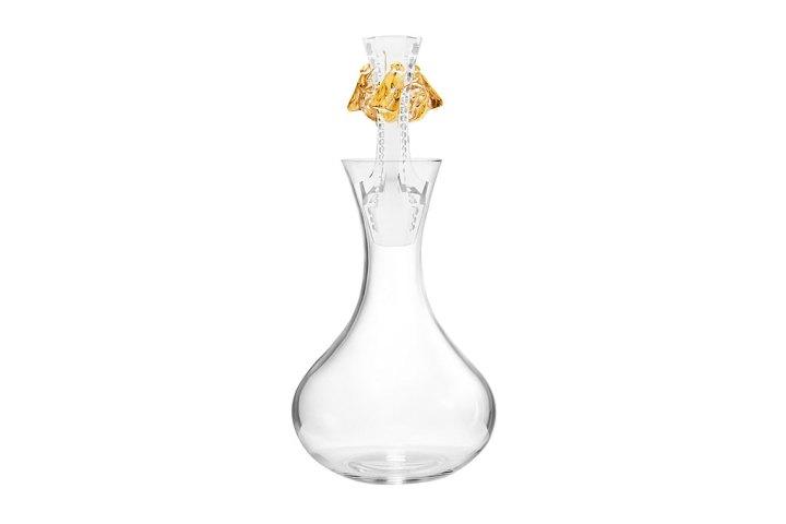 ラリック イヤーデカンタ 2015 アベイユ クリア ゴールド ( Lalique Abeilles - Decanter, Clear Crystal and Gold Stamped - 2015 Vintage Edition )