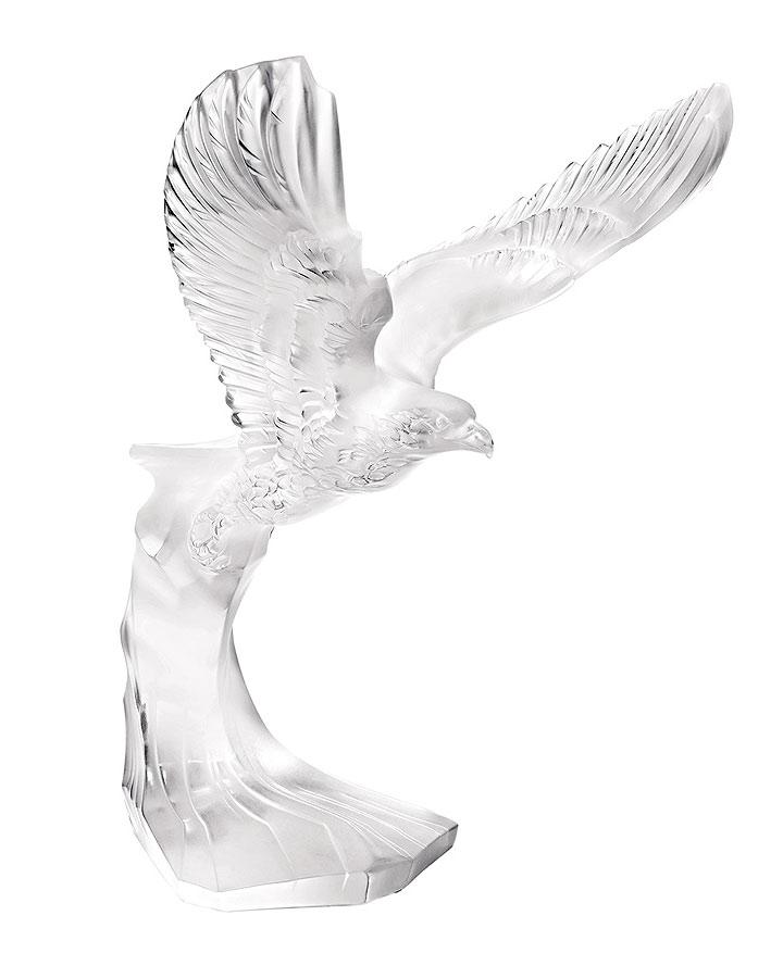 ラリック ガラス彫刻 ゴールデン・イーグル ( Lalique Golden Eagle Sculpture )