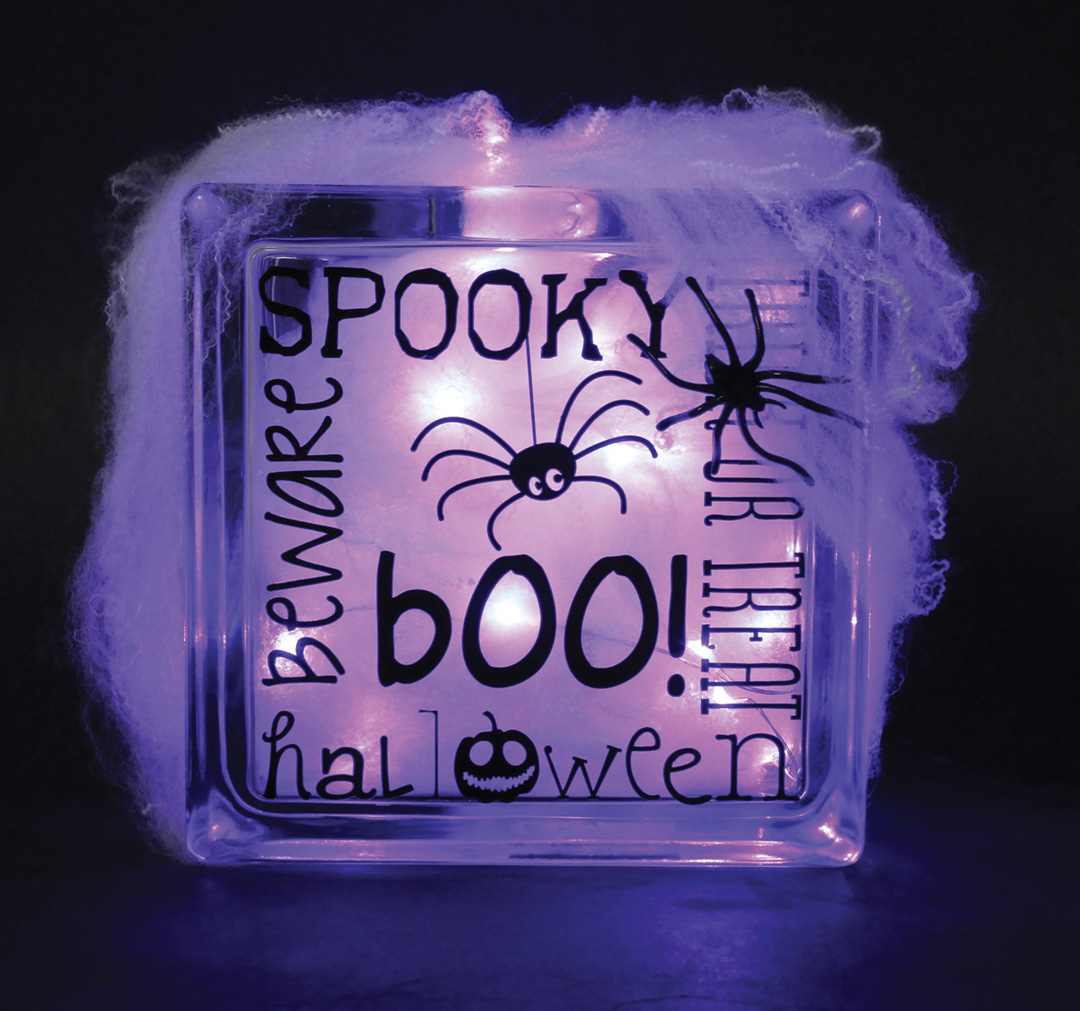 Spooky Halloween Glass Block Crafts Direct