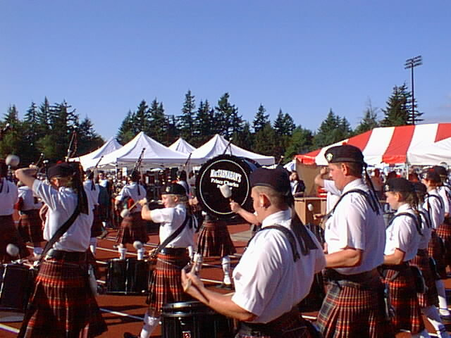 The Highland Games are one of the lively festivals held throughout the year.