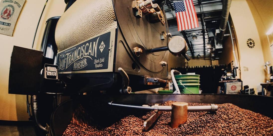 the san franciscan roaster, coffee roaster, coffee, roaster, black gold coffee roasters