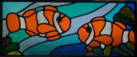 Stained Glass - Clown Fish