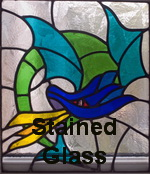 stained glass button