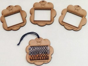 Simple sheep shaped loom for decorating