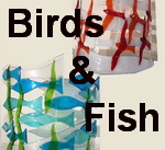 birds and fish button
