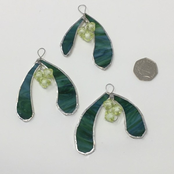 Tiffany style mistletoe