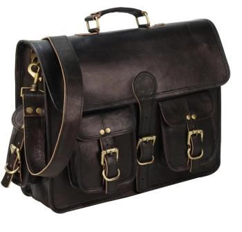 Briefcase ,Black leather bag