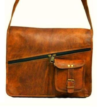 messenger bag,leather bag, sling bag ,bag with pocket in front