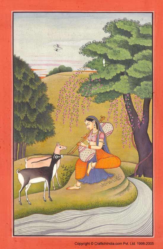 Miniature Painting Ragini Kangra School