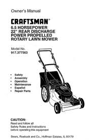Find Owner's Manuals for Craftsman Brand Mowers