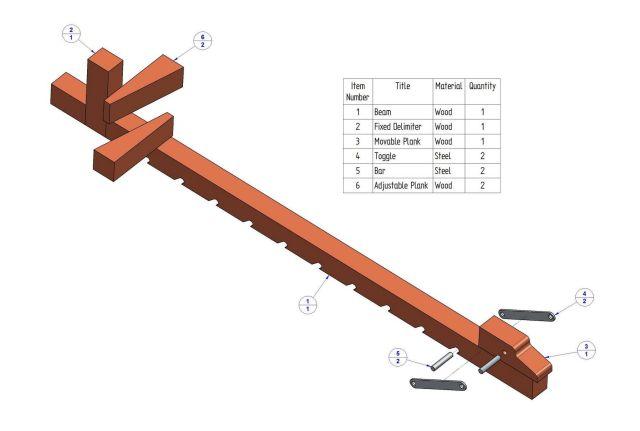 Wooden bar clamp plan - Parts list