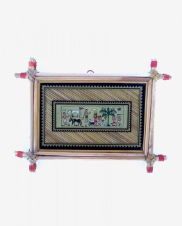 p00374-112119-village-life-palm-leaf-wall-frame