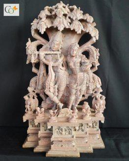 p00967-153100-soapstone-khanja-work-radha-krishna-statue-2-ft