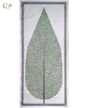 Light green tree Tasar Painting 19 x 45 in