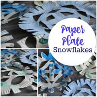 Paper Plate Snowflakes