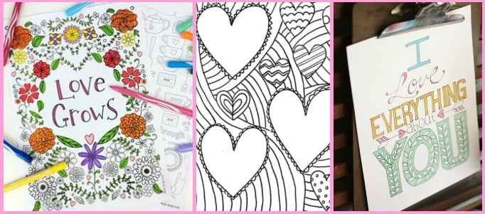 10 Free Valentines Day Colouring Pages For Adults Crafts