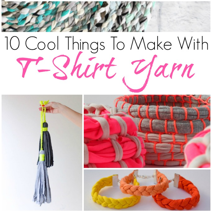 10 Cool things to make with tshirt yarn  Crafts on Sea
