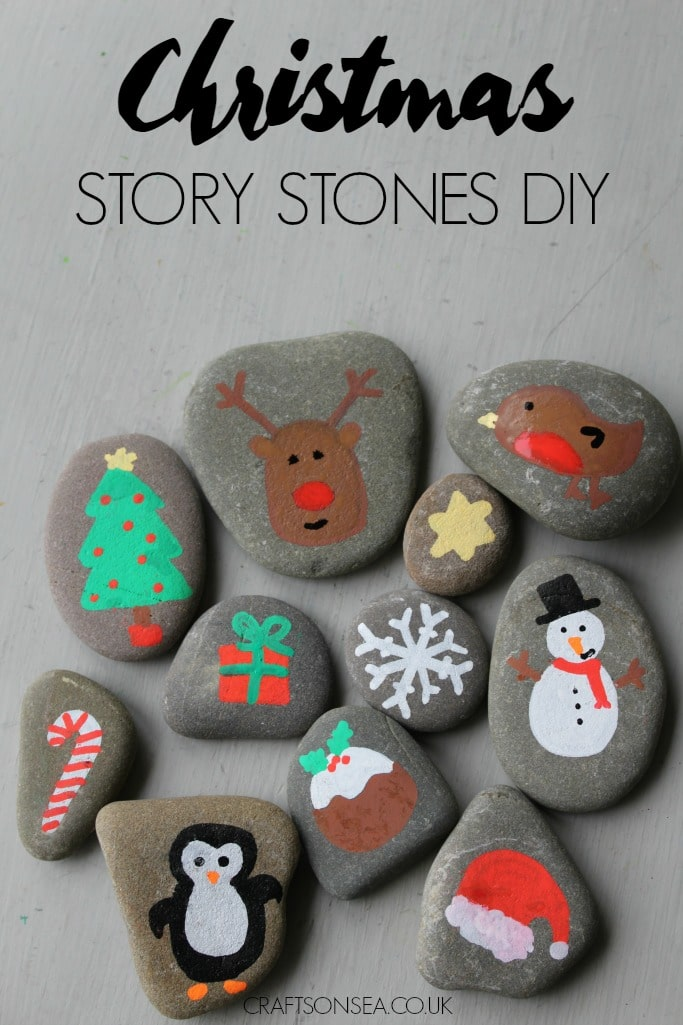 Christmas Story Stones Crafts On Sea