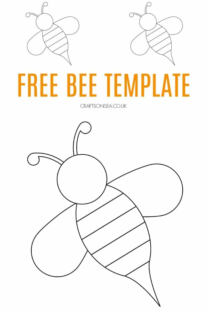 Food sweet, insect and cell, honeycomb and beeswax, comb and wax. Free Bee Template Crafts On Sea