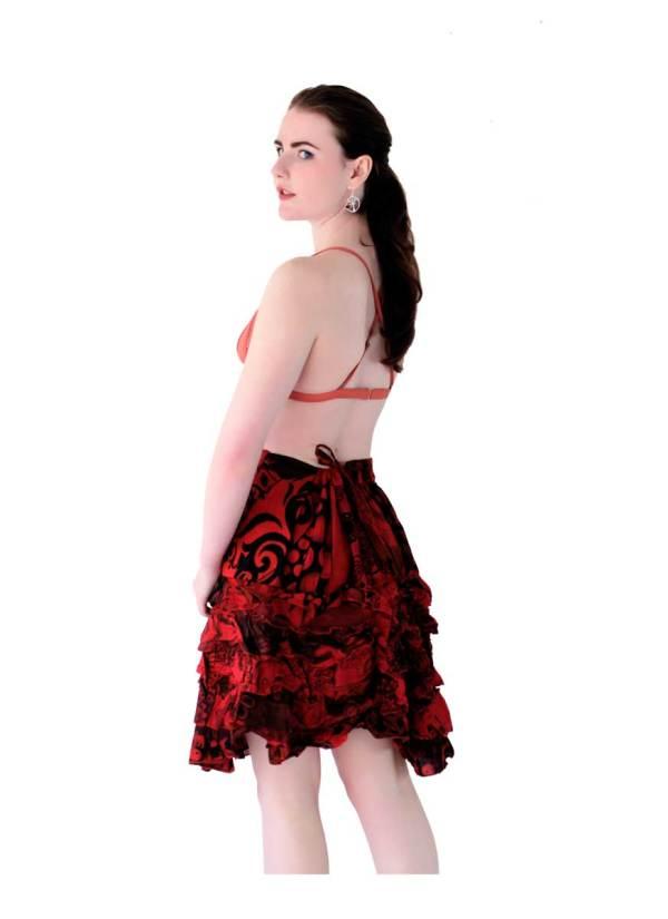Bohemian-Mini-Skirt-Red