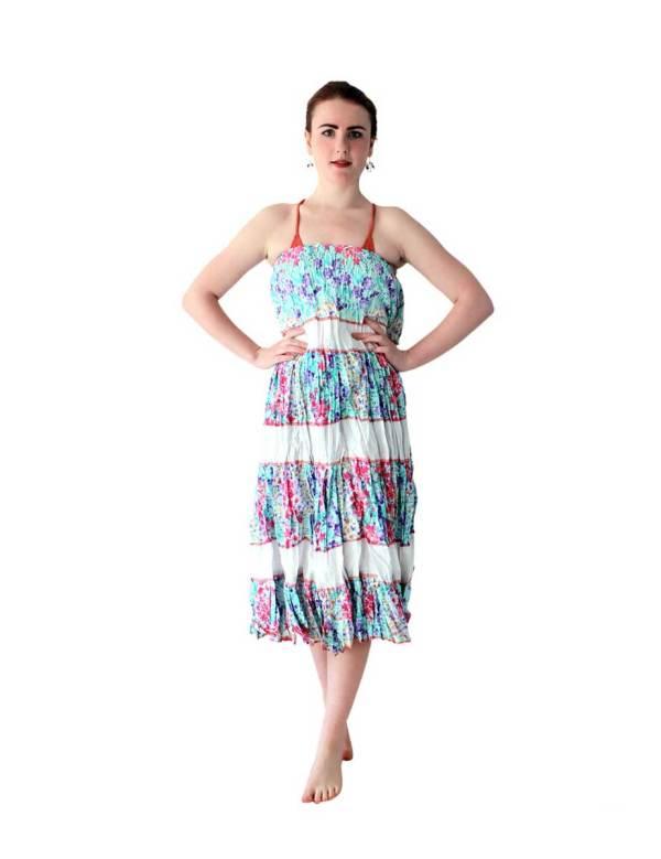 Boho Long Skirt in floral