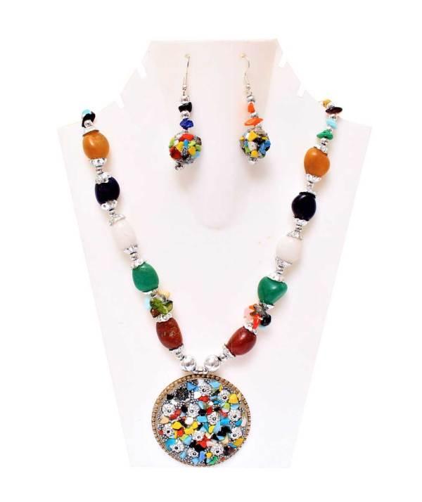 Boho Multi Stone Necklace