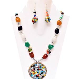 Boho Multi Stone Necklace