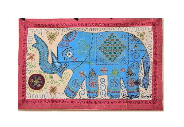 Embroidered Elephant Wall Hanging 4