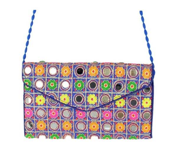 Gypsy Mirror Clutch Bag Blue