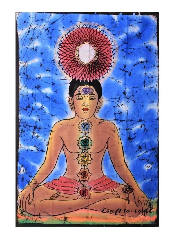 Kundalini Tantra tapestry Blue