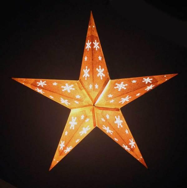 Star Glitter Lantern Golden Light Up