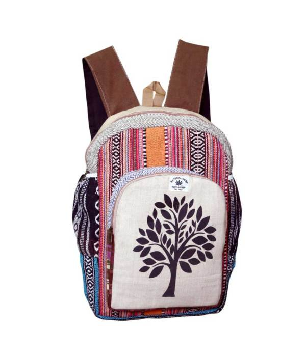 Tree of Life Hemp Backpack