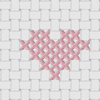 beginner guide to cross stitch small heart chart