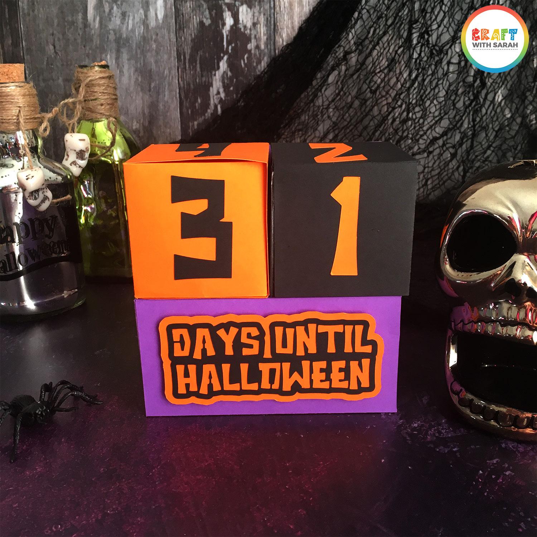 Halloween Countdown Cubes