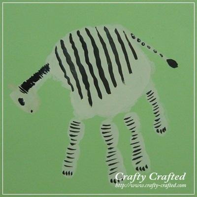 Handprint Zebra Crafty Crafted Com