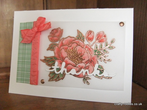 crafty-rootes.com - Stampin Up Birthday Blooms on Vellum