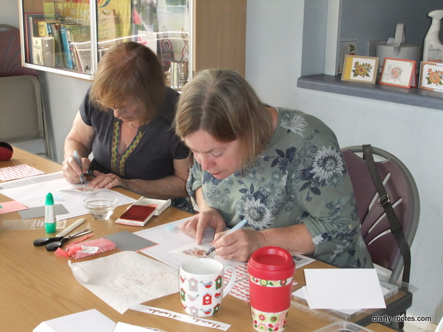 crafty-rootes.com -Tuesday class using Stampin Up Birthday Blooms