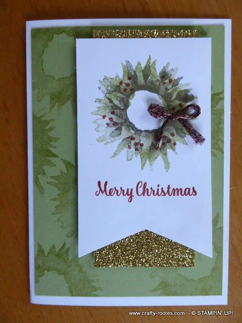 Gorgeous Painted Harvest Christmas cards