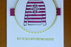 Quirky Sweater Christmas card