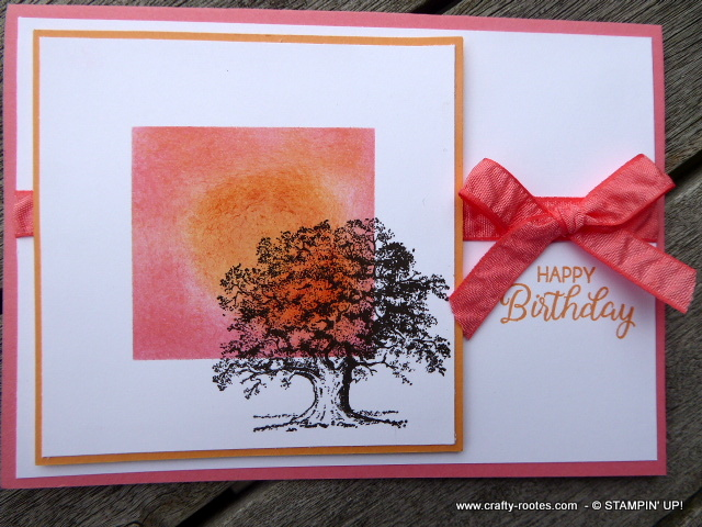 Stampin' Up!'s Lovely as a Tree at sunset