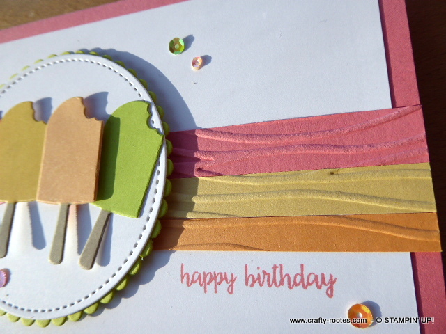 Ice lollies on a summer themed childs birthday card
