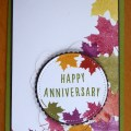 Gorgeous Autumnal colours for an anniversary card
