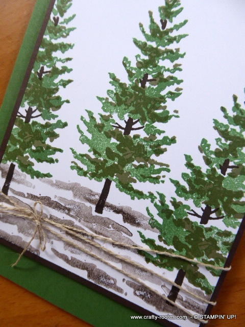 Lovely forest image for a card