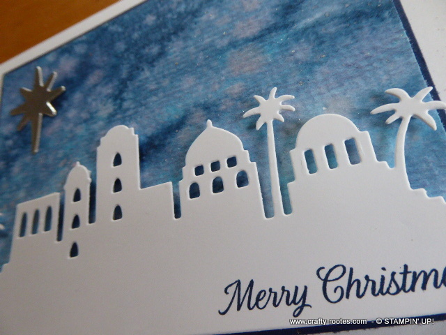 Gorgeous Christmas card using the Night In Bethlehem stamp set