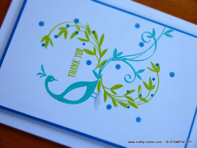 Beautiful, graceful peacock card